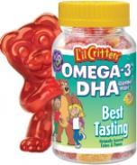 Kẹo gôm L'il Critters Omega-3 DHA Gummy Fish