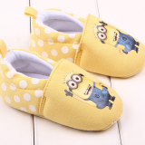 Giày tập đi minion  Size:   11-12-13 cm