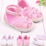 Giày tập đi móc len kết nơ cổ chân  Size:   11-12-13 cm