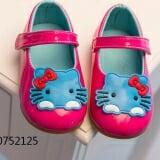 Giày búp bê kitty xanh  Size:  (13-16cm) 1-5 tuổi