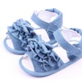 giày tập đi nhún bèo jean  Size:  9-15 tháng