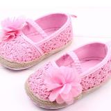 Giày tập đi hoa voan móc len  Size: 13 cm