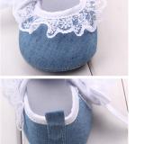 Giày tập đi jean kết ren  Size: 11- 12-13 cm