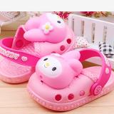 Giày nhựa dẻo thỏ hồng( có đèn chớp)  Size:  12-13-14 cm