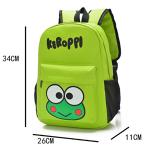 balo ếch xanh. chất liệu : vải dù, có lớp lót chống thấm nước bên trong,  thích hợp cho bé từ 4-9 tuổi  Size: 34 * 26 * 11cm