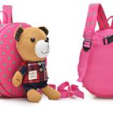 balo gấu hiệu OEM; chất liệu: bên trong lót vải dù, ko thấm ướt.  Size:  22 x 9 x 23 cm