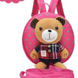 balo gấu hồng ca rô hiệu OEM; chất liệu: bên trong lót vải dù, ko thấm ướt.  Size:  22 x 9 x 23 cm