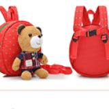 chi tiết balo gấu đỏ ca rô hiệu OEM; chất liệu: bên trong lót vải dù, ko thấm ướt. gấu có thể tháo rời  có dây kèm theo để giữ bé :)  Size:  22 x 9 x 23 cm