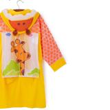 Áo mưa hình thú phong cách Hàn Quốc cho bé đi học, sau lưng áo được thiết kế rộng hơn có thể trùm luôn cả balo đeo sau lưng mà không sợ ướt. Chất liệu PVC tốt  Size: M(dài 63cm cho bé 100-110cm)            L(dài 69cm cho bé 110-120cm)            XL(dài 74cm cho bé 120-130cm)            XXL(dài 80cm cho bé 130-150cm)
