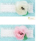 Băng đô ren hoa voan lá