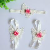 set nơ đeo chân  và băng đô bướm trắng  Size: free size