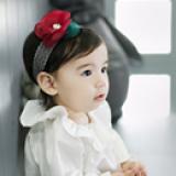 băng đô ren hoa voan đỏ phong cách Hàn Quốc