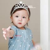 Băng đô vương miện bạc mềm Hapyy Prince Hàn Quốc