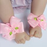 set nơ đeo chân và băng đô nơ hồng  Size:  sơ sinh trở lên
