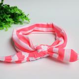 Băng đô thun sọc cột nơ hồng đậm  Size:  free size