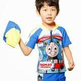 Set bơi áo + quần + nón xe lửa Thomas  Size:  11 - 30 kg