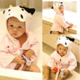 Áo choàng tắm hiệu OEM cao cấp bò sữa  Size: 0-3 tuổi, 54 * 43 * 45cm , 100% cotton