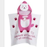 Khăn choàng đi biển, hồ bơi, hay dùng cho bé hóa trang thành nhữngcon mèo hồng  Size: 60 x 120 cm