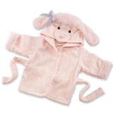 Áo choàng tắm hiệu OEM cao cấp cừu hồng  Size: 0-3 tuổi, 54 * 43 * 45cm , 100% cotton