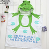 Khăn choàng đi biển, hồ bơi, hay dùng cho bé hóa trang thành những chú ếch dễ thương.  Size:  60 x 120 cm