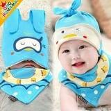 set nón thun+ khăn tam giác heo con  Size:  6 tháng-2 tuổi