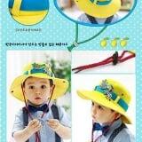 mũ rộng vành ngựa vằn 100% cotton, thương hiệu lemon kid HQ  Size:  18 tháng-4 tuổi