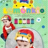 mũ gấu sọc hiệu Lemonkid, HQ,100% cotton tự nhiên  Size:  cho bé từ 1-3 tuổi