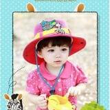 mũ rộng vành con ngựa vằn 100% cotton, thương hiệu lemon kid HQ  Size:  18 tháng-4 tuổi