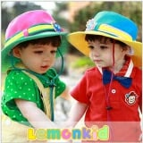 mũ rộng vành phi thuyền100% cotton, thương hiệu lemon kid HQ  Size:  18 tháng-4 tuổi