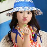 nón vành rộng cột dây nơ phong cách Hàn Quốc  Size:  2 tuổi trở lên (vòng trong nón 54cm)