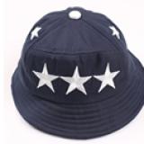 nón vành 3 ngôi sao phong cách Hàn Quốc màu xanh đen  Size:  12 tháng-4 tuổi