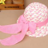 nón vành rộng cột dây nơ phong cách Hàn Quốc  Size:  2 tuổi trở lên (vòng trong nón 54cm) màu hồng