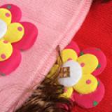 nón len tóc giả bông hoa  Size:  3-18 tháng