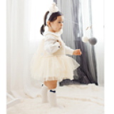 vớ công chúa gắn nơ phong cách Anh, chất liệu: Cotton mềm mại đàn hồi    Size:  S ( 0-2 tuổi)         M  (2-4 tuổi)