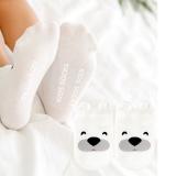 vớ cotton ngắn cổ Hàn Quốc gấu trắng  Size:  trên 1 tháng
