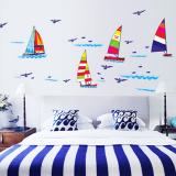 Decal thuyền buồm(không làm bẩn tường khi bóc ra)  Size:  140 x 50cmcm