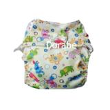 Tã đêm- lớp vải bên ngoài với nhiều họa tiết đa dạng, xinh xắn và bằng chất liệu PUL (polyurethan laminate) làm cho da bé dễ thở, được dùng nhiều trong lĩnh vực y khoa nhờ có độ bền cao.  Size:  M (5 - 16kg), L(12-24 kg)