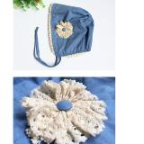 mũ công chua viền ren phong cách Hàn quốc, thiết kế đơn giản tinh tế rất đáng yêu  Size:   36-45cm( 1-12 tháng)