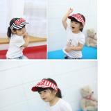 mũ thể thao hở đầu 100% cotton phong cách Hàn quốc, thiết kế vành đai đôi dễ dàng điều chỉnh độ rộng,   Size:   9 tháng-7 tuổi