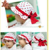 mũ nhún bèo chấm bi cột dây sau hiệu Happy prince  Size: 5-18 tháng