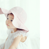 mũ rộng vành xaten  Size: 50cm(1-3tuổi)