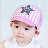 Nón lưỡi trai cotton vành mềm NGÔI SAO nhỏ  Size: 9 tháng-3 tuổi (46-48cm)