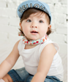 Nón lưỡi trai mềm Jean chữ H  Size:  1 tuổi trở lên
