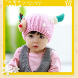 Mũ len (nón len) giáng sinh- style Hàn Quốc    Size: 44-52cm,  (6 tháng-3 tuổi)