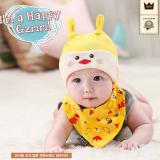 set nón thun+ khăn tam giác hình gà con  Size:  6 tháng-2 tuổi