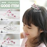 vương miện hồng ngọc-Hàng Handmade tinh xảo, với nguyên phụ liệu nhập từ HQ,Hàng xuất HQ.  Size: trên 1 tuổi