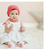 Khăn choàng cổ, khăn tay cho bé phong cách Hàn Quốc  Size:  42x 42cm