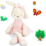 Thỏ bông cho bé ôm ngủ, chất liệu sợi bông siêu mềm siêu mịn an toàn cho bé.  Size:   35x8cm, (tính cả tai là 42cm), thương hiệu Mamas& Papas