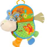 Chào mừng bạn đến khám phá cuốn sách vài - đồ chơi giáo dục( có thể cho bé ngậm cắn nướu)   Size:  27 × 21cm 4 Trang 8 bề mặt (kể cả mặt trước và nắp lưng)