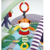 Đồ chơi thú bông có phát âm thanh  là đồ chơi sơ sinh đem lại nhiều lợi ích phát triển tối đa giác quan, kích thích sự tò mò tự nhiên của bé cũng như đem niềm vui đến cho các bé. Sản phẩm làm từ chất liệu vải an toàn tuyệt đối, các mẹ có thể hoàn toàn yên  Size:  khỉ cao 36cm, rộng 10cm